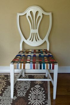 Sally Ann: DIY Belted Chairs