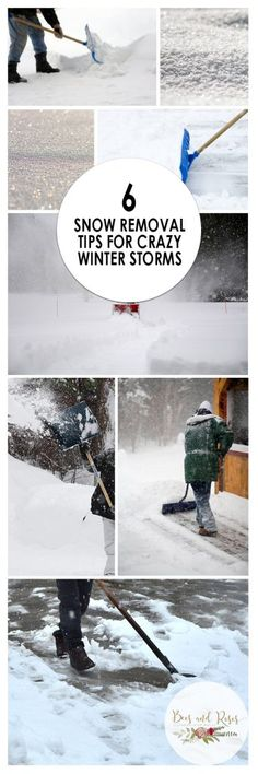 6 Snow Removal Tips for Crazy Winter Storms| Snow Removal, Snow Removal Tips and Trick, How to Remove Snow, Winter Snow Removal, Outdoor Tips and Tricks, Winter Landscaping Tips #SnowRemovalHacks #WinterProjects #WinterYardProjects