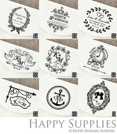 Custom Personalized Wedding Return Address / Save the Day / Party Invitation / Thank You Rubber Stamp or Pre-Inked Stamp Stamp (RP02)