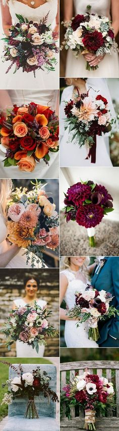 Flowers red bouquet fall wedding 26 new ideas Fall Wedding Bouquets, Fall Wedding Flowers, Bride Bouquets, Fall Flowers, Flower Bouquet Wedding, Floral Wedding, Trendy Wedding, November Wedding Flowers, Fall Bouquets