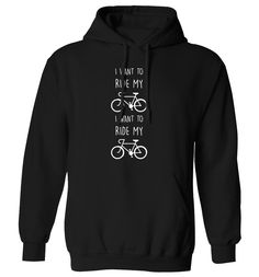 New to FloxCreative on Etsy: I want to ride my bicycle I want to ride my bike hoodie funny slogan quote lyrics cyclist 70's 80's grey black maroon hoody XS - 5XL 55 (22.95 GBP)