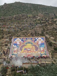 Shoton Festival Thangka, Drepung Monastery, Tibet