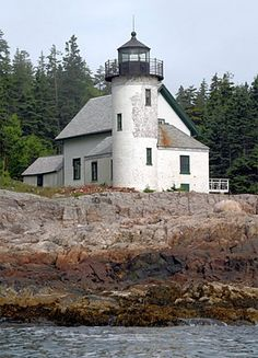 Narraguagus (Pond Island) Lighthouse, built in 1855 in Milbridge, Maine