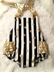 Image result for black and white stripe baby romper
