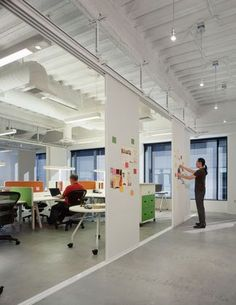 Vitra | Sony Design Centre: Los Angeles  Cool multi purpose moving partition boards: