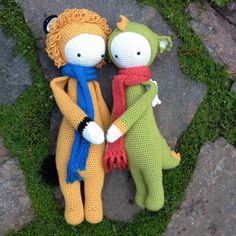 LONI the lion & DIRK the dragon made by Corinne S. / crochet patterns by lalylala