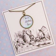 We have a beautiful collection of gold and silver necklaces that suit all occasions, each piece is displayed on our unique and personal quote cards. Silver Necklaces, Book Lovers, Pocket Watch, Alice, Pendant Necklace, Fairytale, Glass, Fun Stuff, Gold