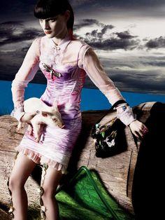 Backyard Party Swimsuit Editorials : Chic BBQ Vogue Italia