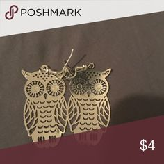Owl earrings Golden owl earrings Jewelry Earrings