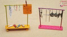 Dreams of Love: Organizador perchero con palos de helado + Decoración de pinzas - Perchas Clips