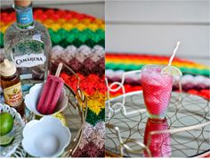 Delish and simple blood orange margarita under $40 using popsicles and limes.