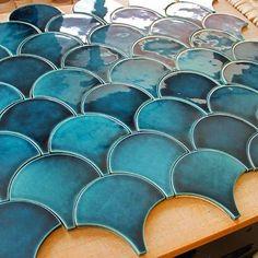 Handmade tiles by PLAKART ceramics. New project. Серия плитки: Moroccan Fish Scale