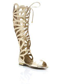 Teardrop Cut-Out Metallic Sandals $37.70