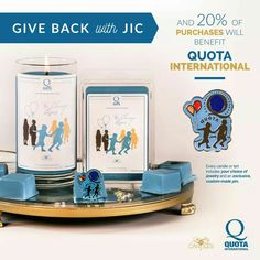 Join JIC in giving back!   Quota International, empowering women, children, the deaf and hard-of-hearing since 1919.   Serving local communities around the world!   Pink Coconut Gelato candles and tarts come with an exclusive Quota Pin, in addition to the jewelry selection of your choice.    20% of all sales will be donated directly to Quota Internatinonal.  #scentedgems #JICGivesBack #MakeADifference  #candles #tarts #QuotaInternational  https://www.jewelryincandles.com/store/marinamcleod