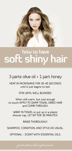 Hair Masks for Shiny Hair. Use them once a week for soft, shiny, healthy hair.  @ http://seduhairstylestips.com