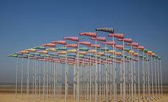 Daniel Buren, Wind Socks, Den Haan, Belgium