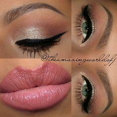 Daytime glam makeup