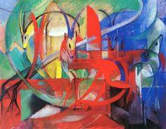 Franz Marc ~ Espressionista tedesco | Tutt'Art@ | Pittura * Scultura * Poesia * Musica |
