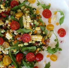 I am a Utah girl, which means FRESH local corn is a MUST! Directions for the Salad: Dressing: 1/2 cup apple cider vinegar 2 Tbsp raw honey {optional} 2 Tbsp extra virgin olive oil 1 tsp sea salt 1/2 tsp ground black pepper Directions: Whisk all dressing ingredients, set... #fresh #freshcorn #salad