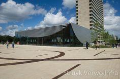 Rotterdam erasmus universiteit Pavement, Rotterdam, Louvre, Public, Building, Travel, Construction, Trips, Buildings