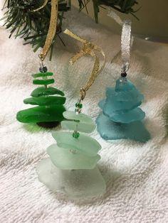 Beach Glass Christmas Tree Ornament