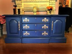 buffet/sideboard painted in Navy