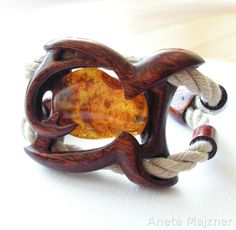 Amber and Wood Bracelet by AmberSculpture on DeviantArt