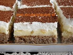 Czech Recipes, Ethnic Recipes, Nutella, Tiramisu, Food And Drink, Sweets, Pineapple, Sheet Cakes, Bakken