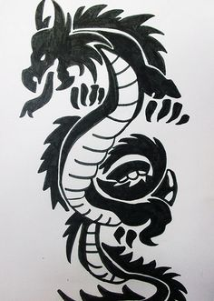 my dragon tattoo drawing by MichelleMisery, via Flickr