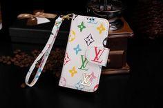 Louis Vuitton iphone 6 Designer Cover wallte Case Design leather Brown white