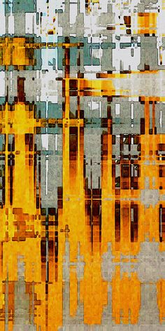 Ochre Urbanity Digital Art by David Hansen