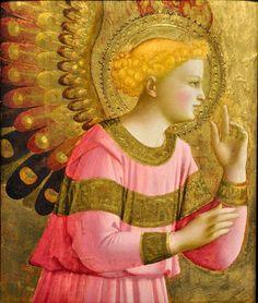 Beato Angelico   Annunciatory Angel   1450-1455  Pittura a tempera e oro su Tavola   Detroit Institute of Arts