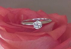 Tiffany & Co 0.38ct I/VVS2 6 Prong Solitaire Diamond Engagement Ring Platinum