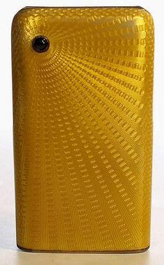 Gold, Enamel + Sapphire Cigarette Case Faberge 1899
