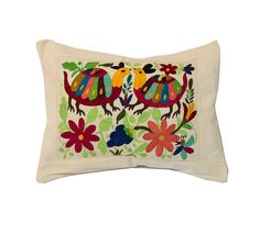 pillow cover handmade Ethnic Textile Cotton by mexicanhandwoven