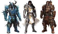 Guild Wars 2 character concepts by Kekai Kotaki