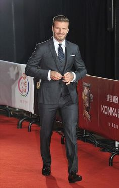 David  Beckham attends the 18th China Music Awards (CMA) and Asian Influential Awards ceremony in Macao   David  Beckham  in Ralph Lauren Black Label three piece suit