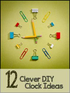 12 Crazy DIY Clock Ideas PIN