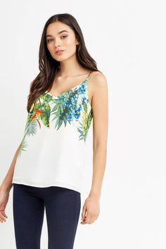 TROPICAL PLACEMENT CAMI Multi Natural
