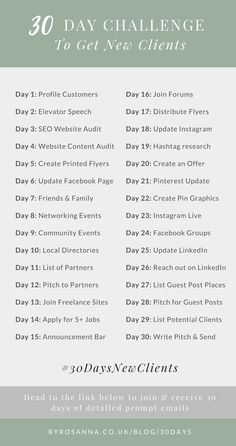 Small business marketing - 30 Day Challenge to Get New Clients! (For Freelancers & Small Biz Owners) – Small business marketing Business Planning, Business Tips, Business Women, Online Business, Business Quotes, Small Business Help, Strategy Business, Serious Business, Etsy Business