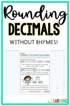 This resource helps teach your students how to round decimals! Stop rounding rhymes and songs and teach your students a deep understanding of rounding numbers! This resource includes 20 scaffolded practice pages that teach students how to round decimals to the nearest whole number, tenths place, and hundredths place. It includes a printable and a digital version for Google Classroom™. I Love Math, Fun Math, Math Games, Math Activities, Maths, Rounding Decimals, Rounding Numbers, Teaching Numbers, Help Teaching