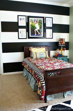 Fun girls bedroom via Dimples & Tangles blog