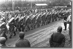 En GrafenwöhrLlegada de los divisionarios a Grafenwöhr, 1941 Procedencia: Fundación División Azul (FDA)