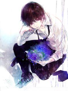 anime, anime boy, and anime art image Art Anime, Anime Artwork, Manga Anime, Ken Tokyo Ghoul, Kawaii, Anime People, Flower Boys, Manga Boy, Manga Illustration