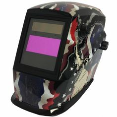 Amazon.com: Antra AH4-220-219A Solar Power Auto Darkening Welding Helmet American Flag with Stature of Liberty with AF220 Large Viewing Size...
