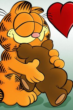 Garfield and Pooky....Love!!
