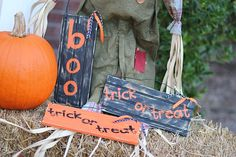 Halloween Rustic Wooden SignHand paintedMix and by HouseofHardy, $8.00