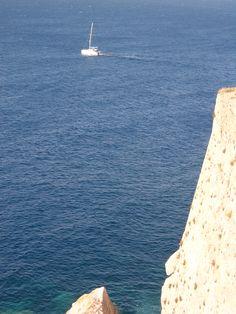 Das Boot und der Felsen