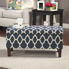 Shop for HomePop Large Decorative Storage Ottoman. Get free shipping at Overstock.com - Your Online Furniture Outlet Store! Get 5% in rewards with Club O! - 17406809