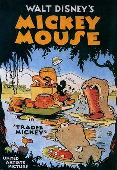 Filme / Zeichentrick: Mickey Mouse-Trader Mickey (USA von Walt Disney im Retro Disney, Vintage Disney Posters, Disney Movie Posters, Classic Movie Posters, Cartoon Posters, Old Disney, Classic Cartoons, Vintage Cartoon, Disney Love